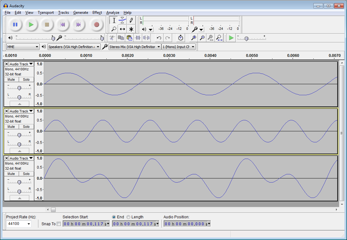 Sound Synthesis in Java